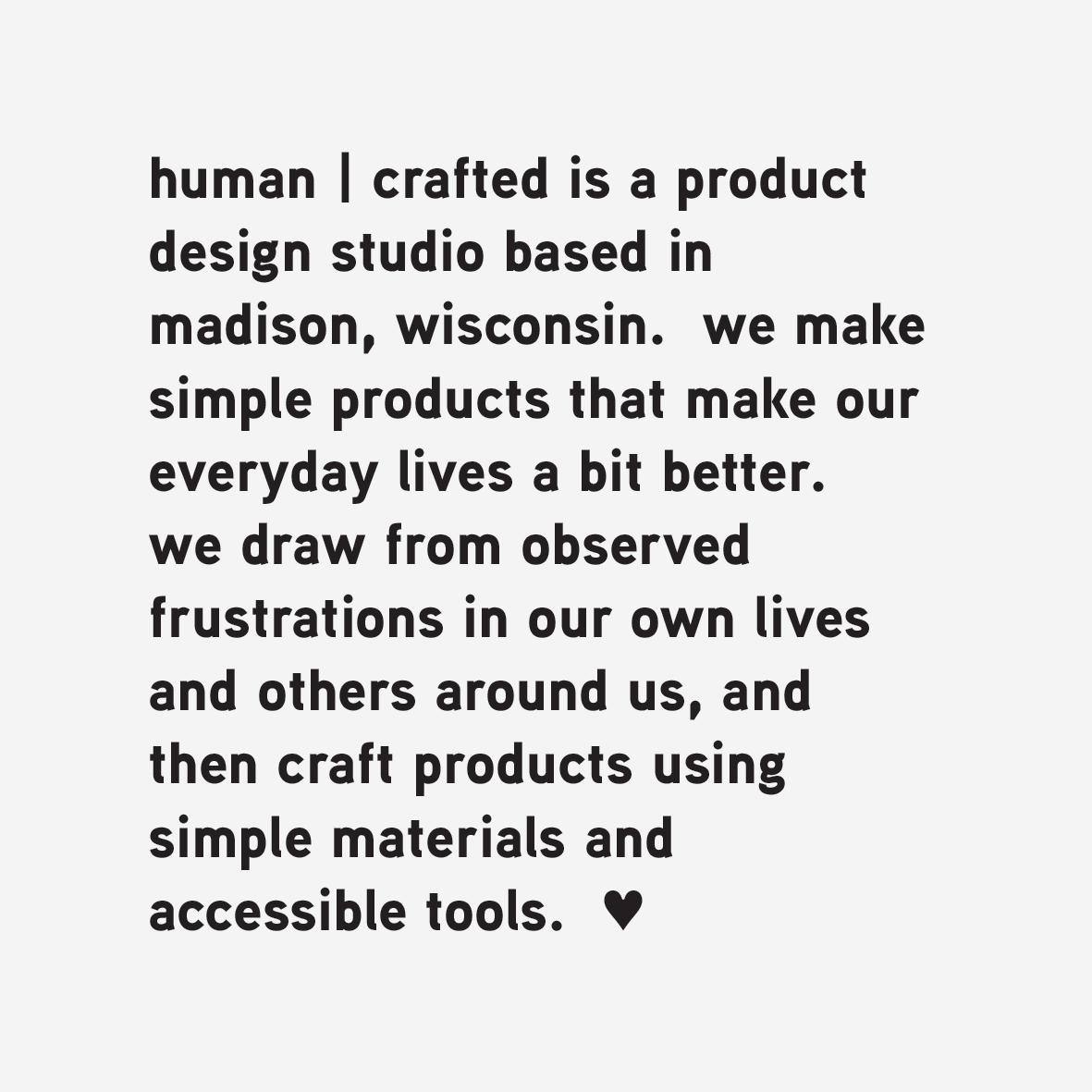 humanCraftedIs